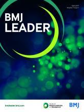 BMJ Leader: 1 (1)