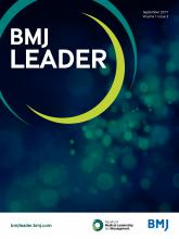 BMJ Leader: 1 (3)