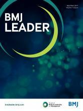 BMJ Leader: 1 (4)