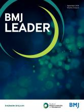 BMJ Leader: 2 (3)