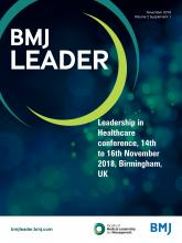 BMJ Leader: 2 (Suppl 1)