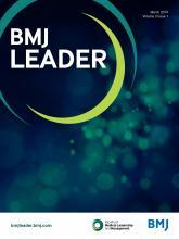 BMJ Leader: 3 (1)