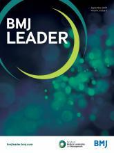 BMJ Leader: 3 (3)