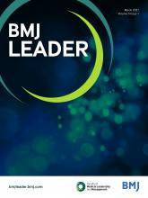 BMJ Leader: 5 (1)